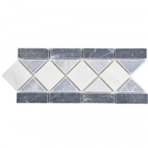 Natural Stone Border Prades Black White Grey