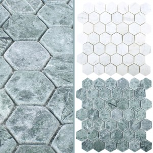 Mosaic Tiles Marble Wutach Hexagon