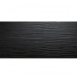 Wall Tiles Norway Structured Glossy 25x50cm Black
