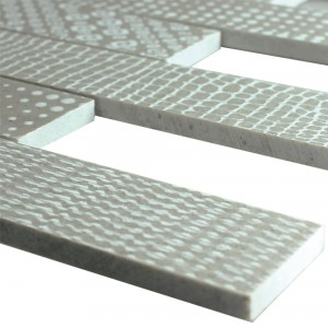 Marble Natural Stone Stripe Mosaic Tiles Grover Grey
