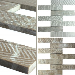 Marble Natural Stone Stripe Mosaic Tiles Grover