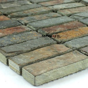 Slate Mosaic Rust 15x48x10mm