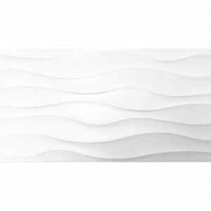 Wall Tiles Karolina Wave Decor White Mat