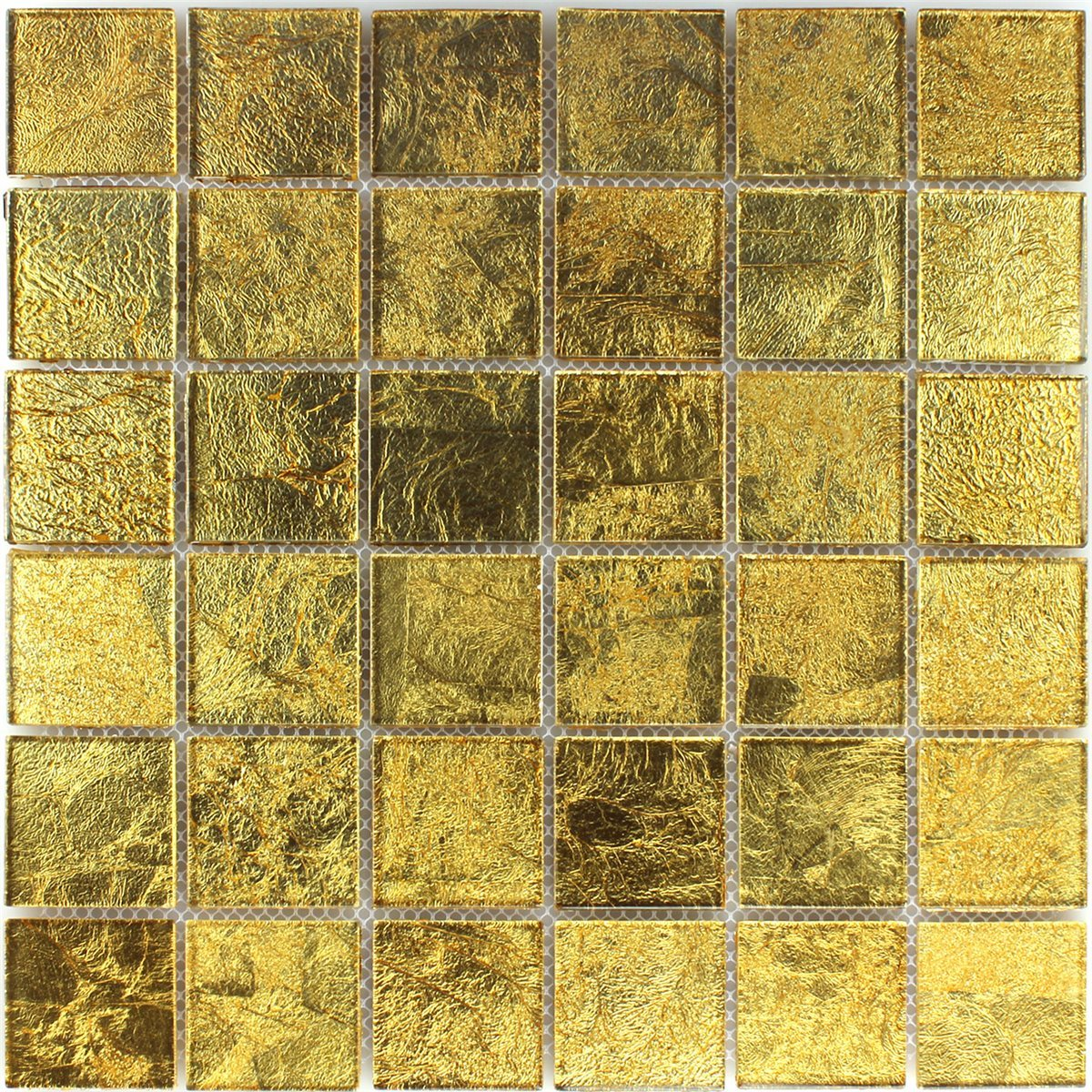 Mosaic Tiles Gl Effect Gold 48x48x4mm