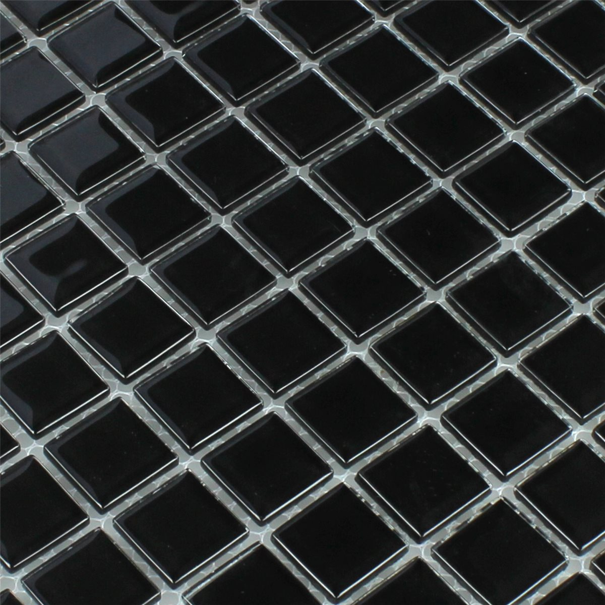 Mosaic Tiles Gl Black 25x25x4mm
