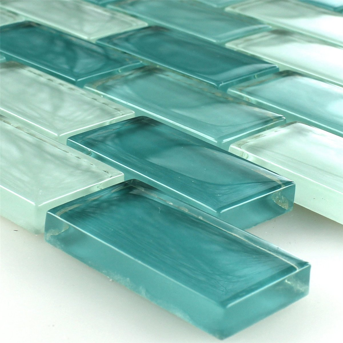 Clear Glass Crystal Mosaic Tiles Green Mix Www Mosafil Co Uk