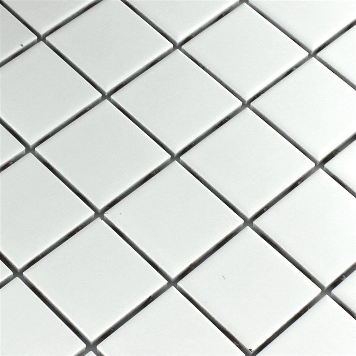 Ceramic mosaic tiles white matt 48x48x6mm ho24163m mosaic tiles ceramic white mat 48x48x6mm dailygadgetfo Image collections