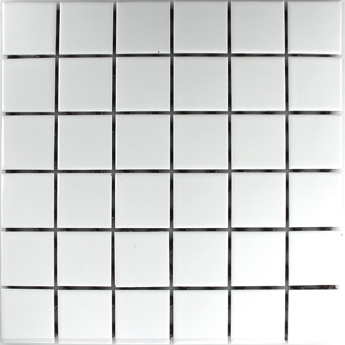 Mosaic Tiles Ceramic White Mat 48x48x6mm. Ceramic Mosaic Tiles White Matt 48x48x6mm   HO24163m
