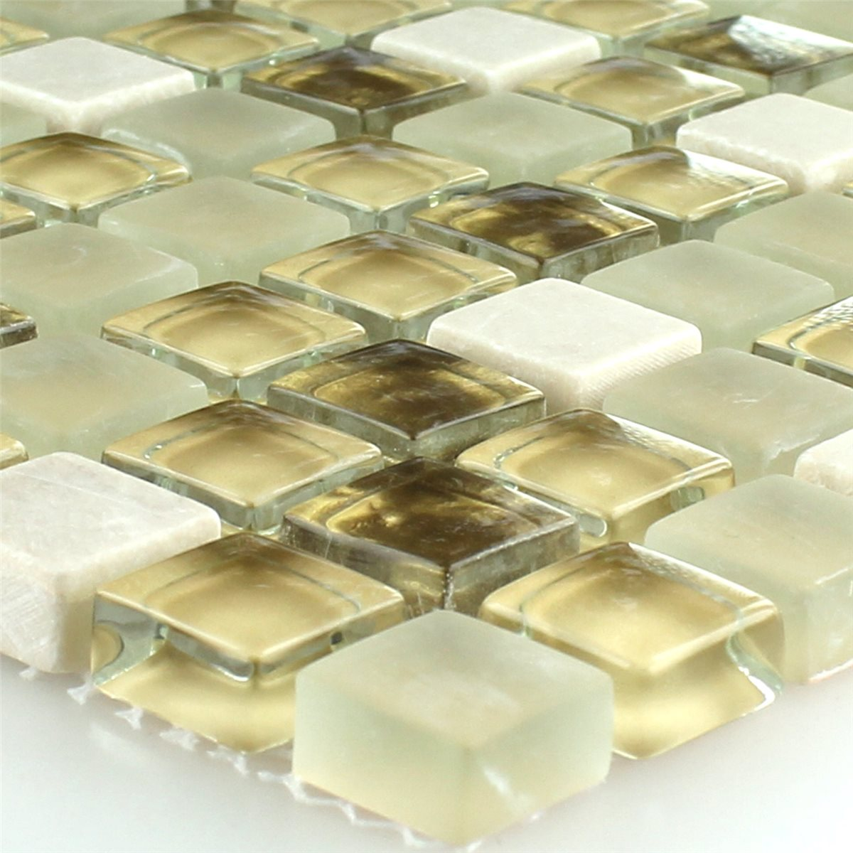 glass natural stone mosaic tiles white gold mix www. Black Bedroom Furniture Sets. Home Design Ideas