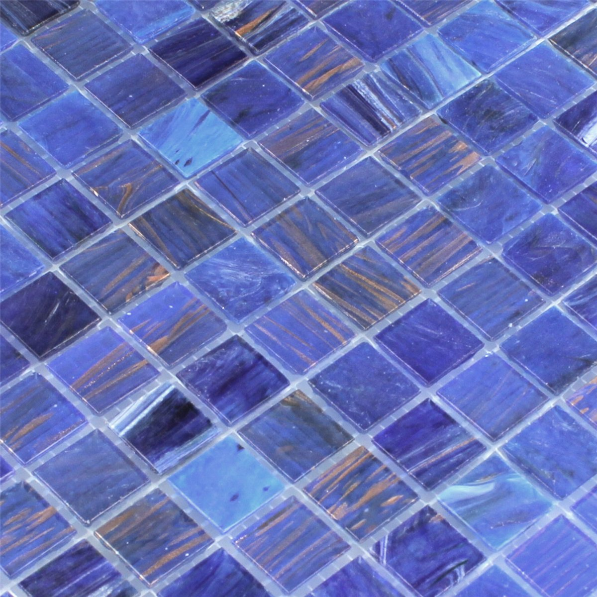 Glass Effect Mosaic Tiles Gold Star Blue | www.mosafil.co.uk