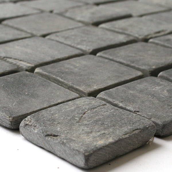 Mosaic Tiles Slate 46 5x46 5x10mm Black