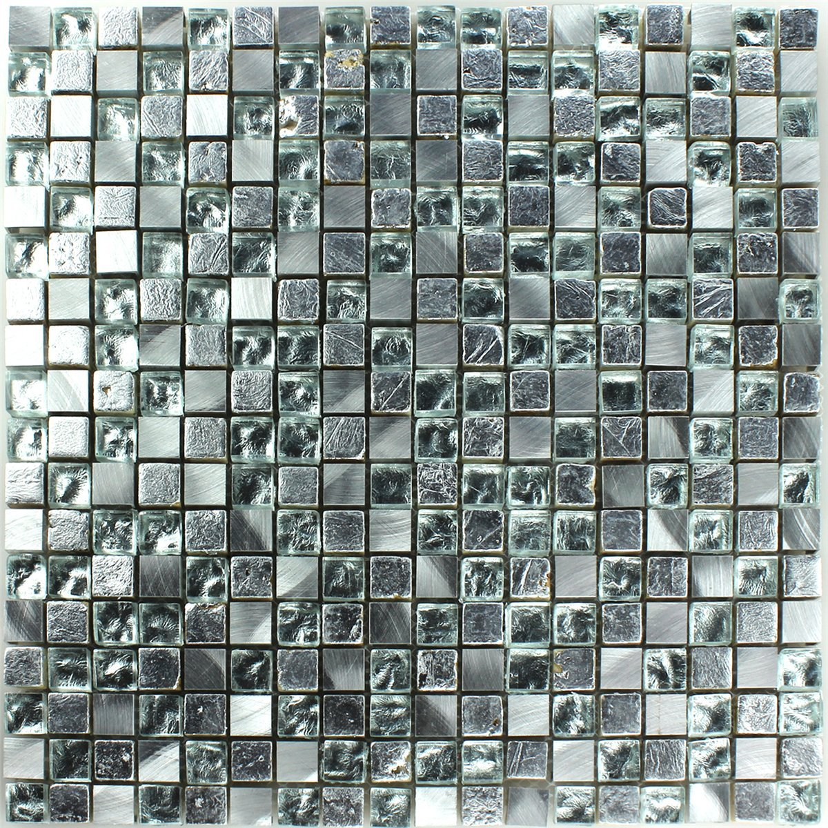 Glass Natural Stone Mosaic Tiles Silver Mosafil Co Uk