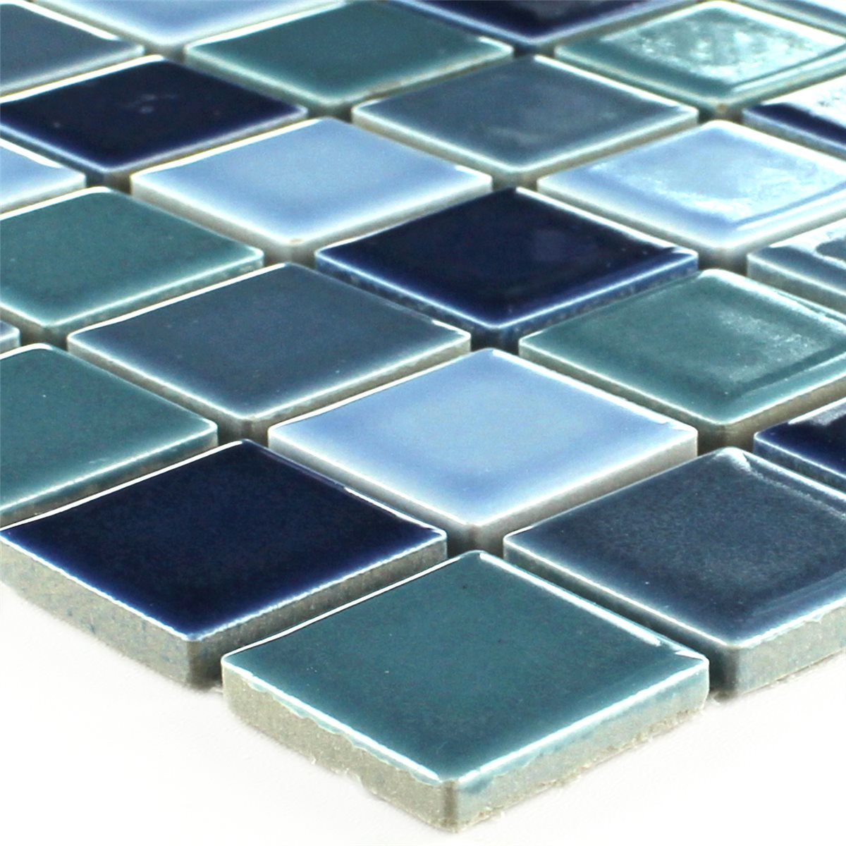 Ceramic Mosaic Tiles Blue Mix Brilliant Tm33245m