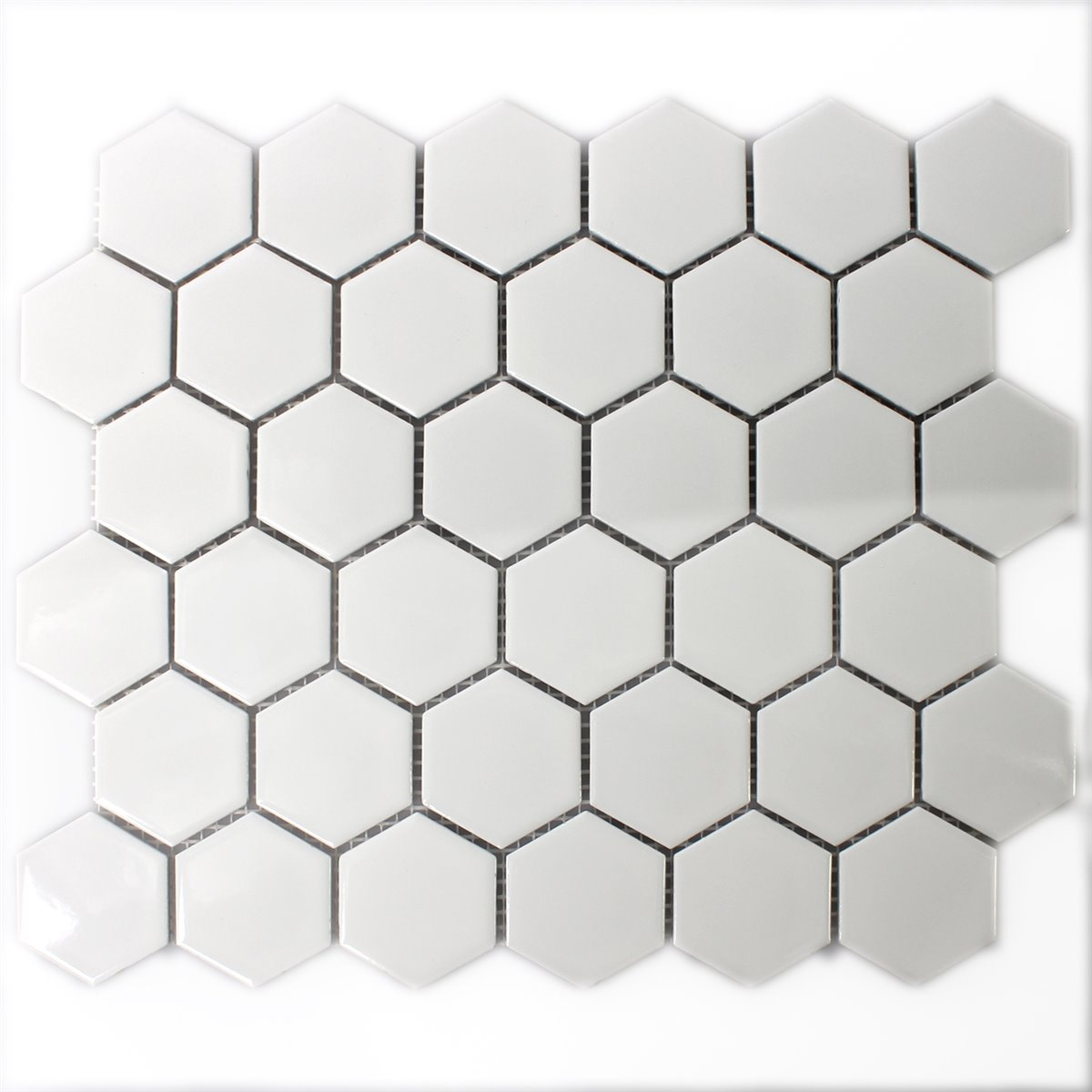 Ceramic mosaic tiles hexagon white glossy tm33325 mosaic tiles ceramic hexagon white glossy dailygadgetfo Image collections