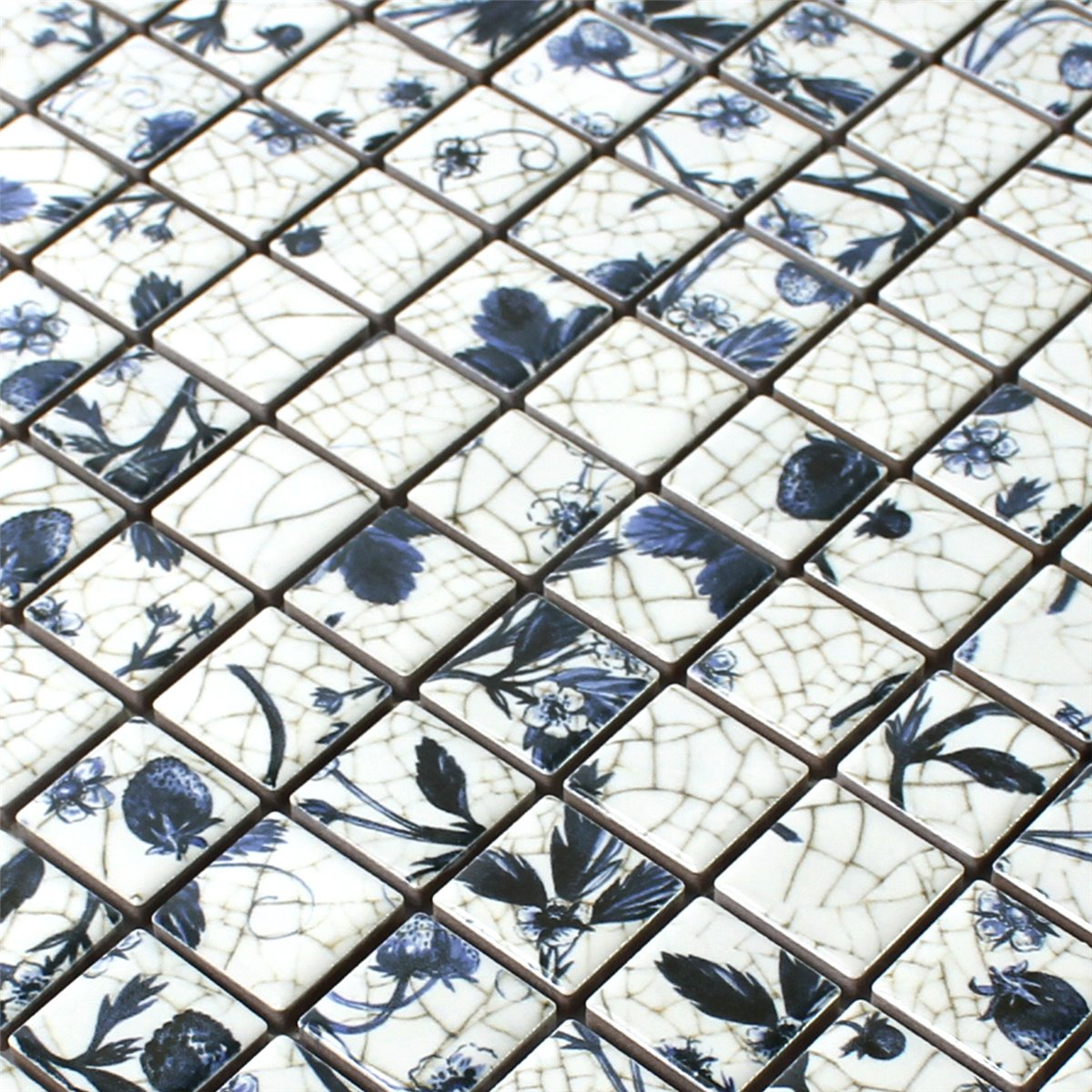 Ceramic mosaic tiles tile designs ceramic mosaic tiles strawberry white blue tm33350 dailygadgetfo Gallery