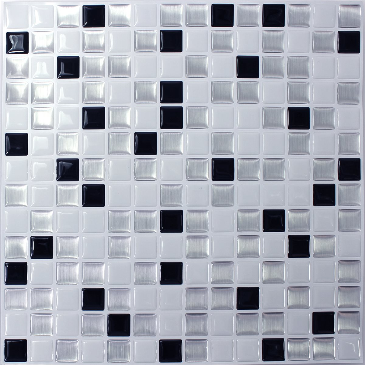 Phenomenal Mosaic Tiles Vinyl Black White Mix Home Remodeling Inspirations Basidirectenergyitoicom
