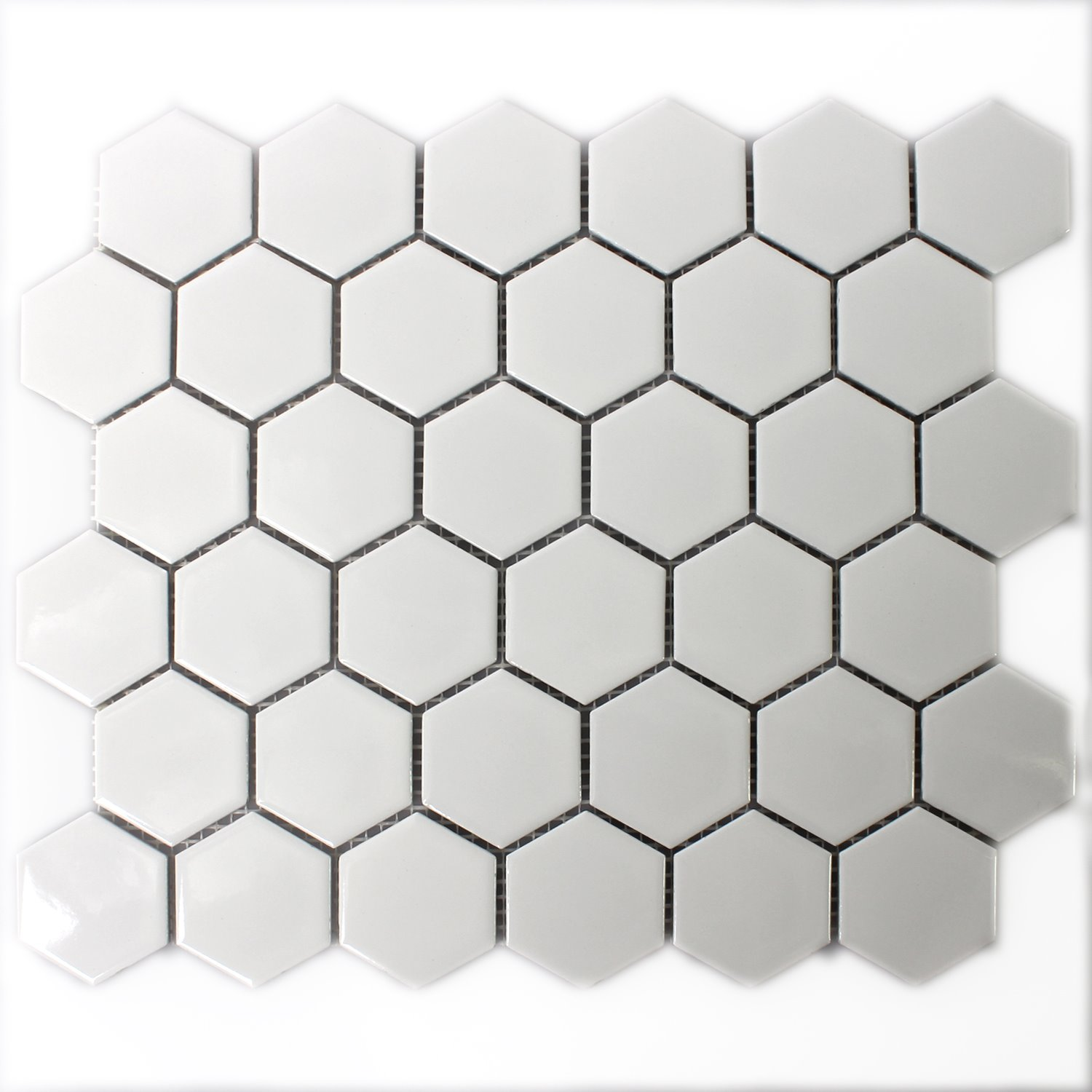 Ceramic mosaic tiles hexagon white mat tm33324 mosaic tiles ceramic hexagon white mat dailygadgetfo Choice Image